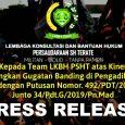 Follow Pengadilan Tinggi Jawa Timur di Surabaya (selanjutnya PT Surabaya) akhirnya menolak permohonan banding para penggugat dalam perkara Nomor: 34/Pdt.G/2019/PN Madiun (Putusan N.O) melalui Putusan […]