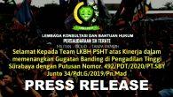 Pengadilan Tinggi Jawa Timur di Surabaya (selanjutnya PT Surabaya) akhirnya menolak permohonan banding para penggugat dalam perkara Nomor: 34/Pdt.G/2019/PN Madiun (Putusan N.O) melalui Putusan Nomor […]